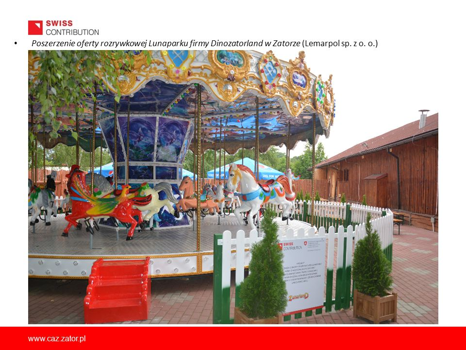 Poszerzenie oferty rozrywkowej Lunaparku firmy Dinozatorland w Zatorze (Lemarpol sp. z o. o.)