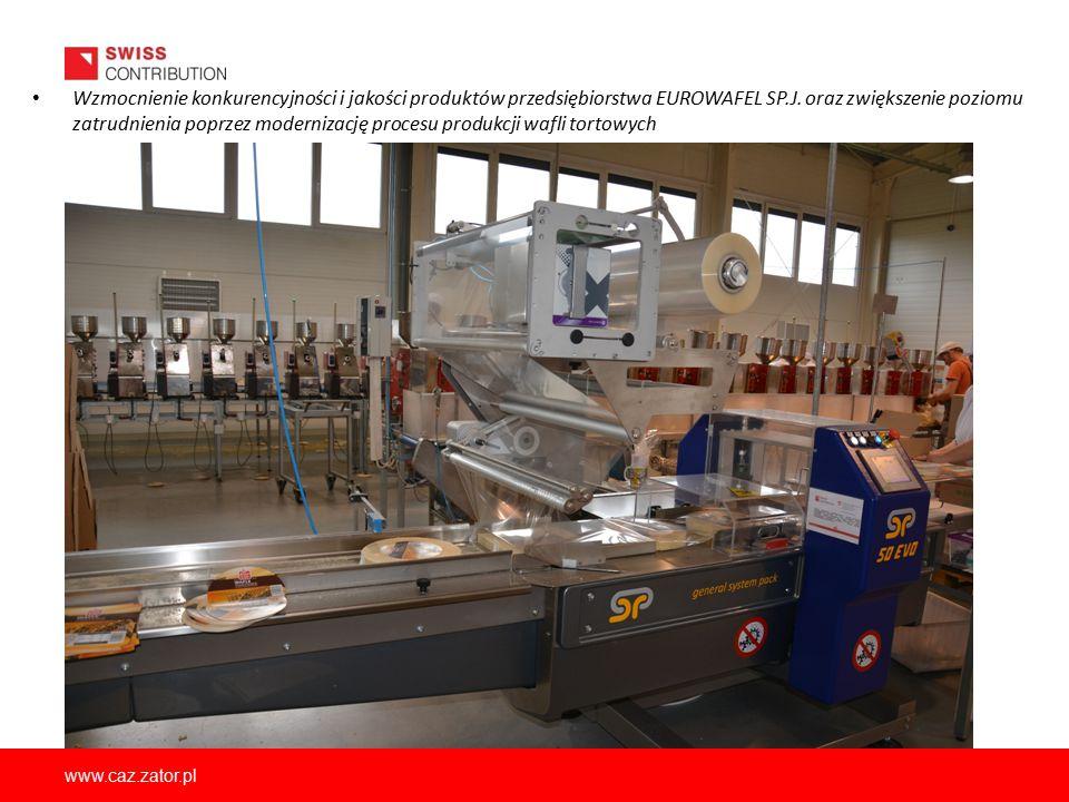 Wzmocnienie konkurencyjności i jakości produktów przedsiębiorstwa EUROWAFEL SP.J. oraz zwiększenie poziomu zatrudnienia poprzez modernizację procesu produkcji wafli tortowych
