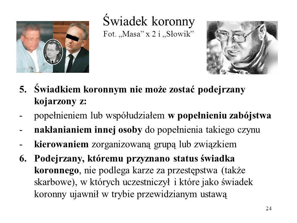 """Świadek koronny Fot. """"Masa x 2 i """"Słowik"""