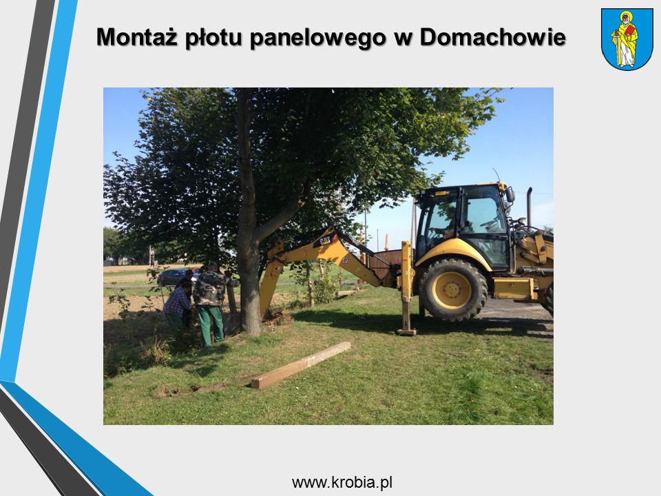 Montaż płotu panelowego w Domachowie