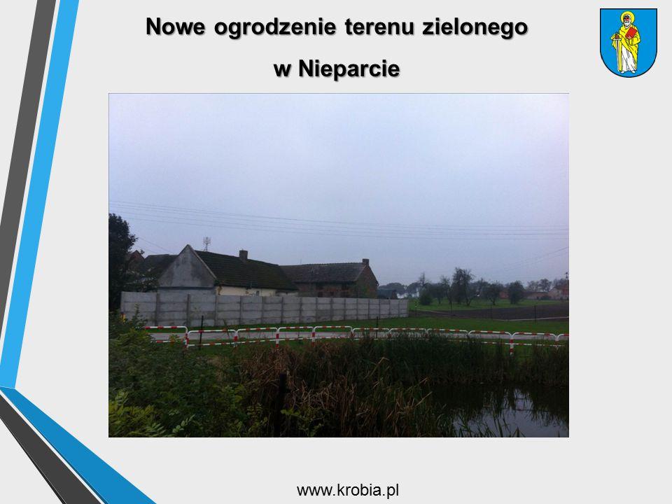 Nowe ogrodzenie terenu zielonego w Nieparcie