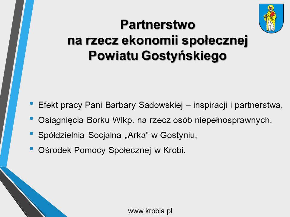 Partnerstwo na rzecz ekonomii społecznej Powiatu Gostyńskiego