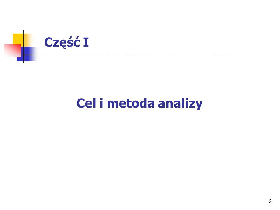 Część I Cel i metoda analizy