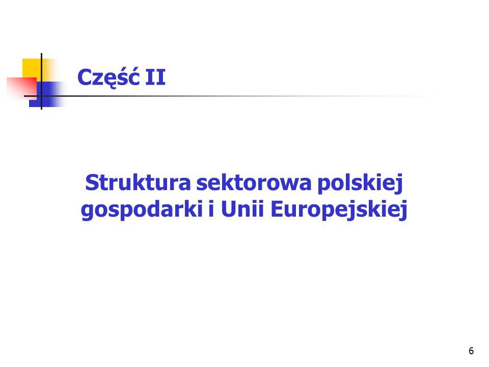 Struktura sektorowa polskiej gospodarki i Unii Europejskiej