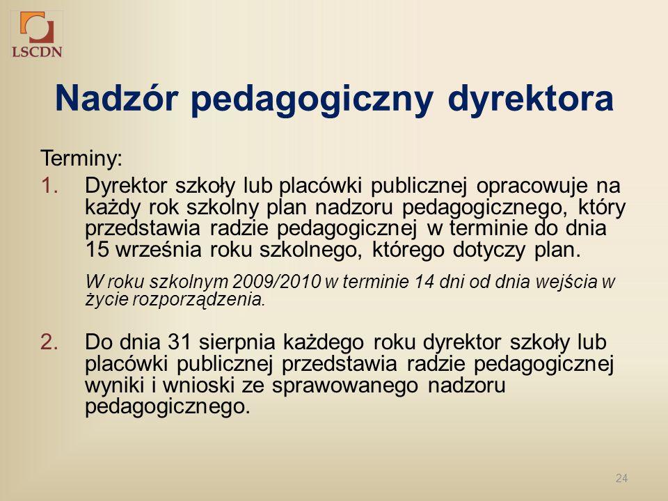 Nadzór pedagogiczny dyrektora