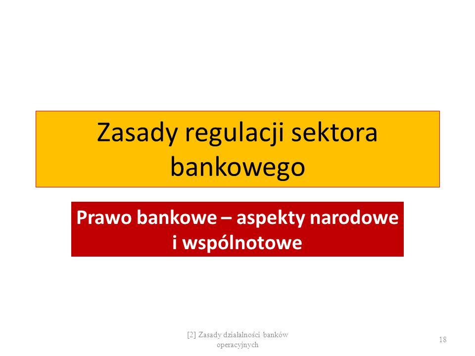 Zasady regulacji sektora bankowego