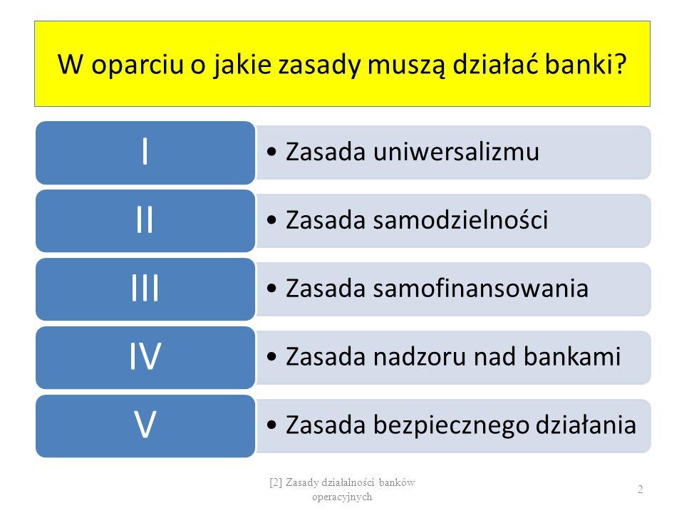 W oparciu o jakie zasady muszą działać banki
