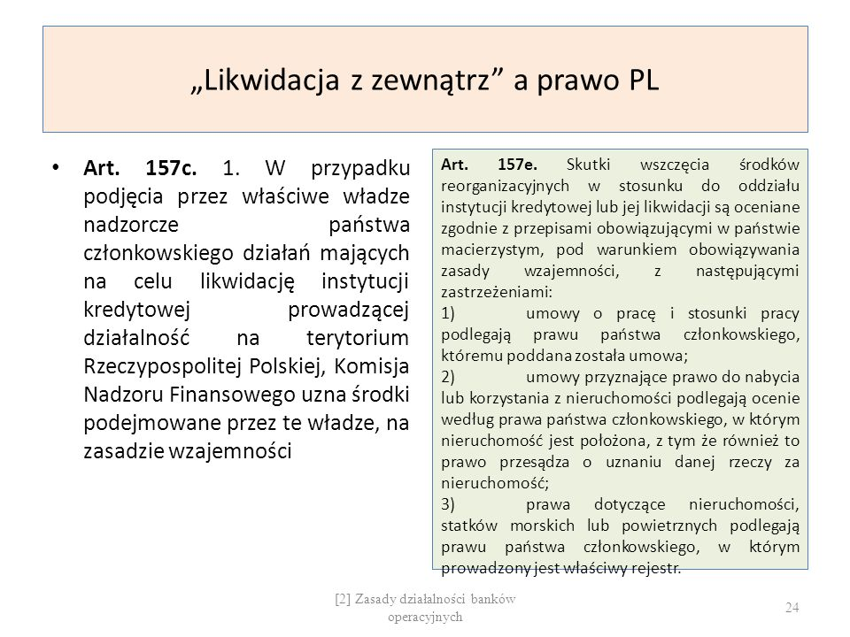 """""""Likwidacja z zewnątrz a prawo PL"""