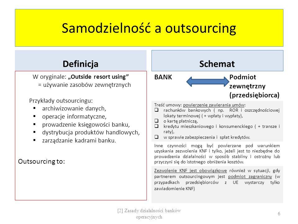 Samodzielność a outsourcing