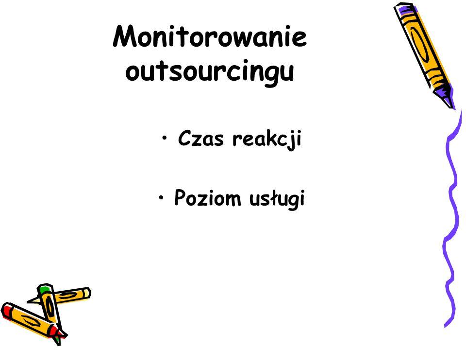 Monitorowanie outsourcingu