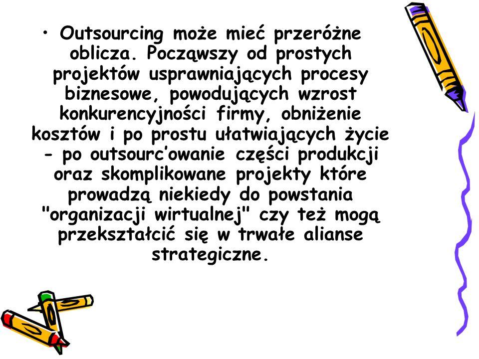 Outsourcing może mieć przeróżne oblicza
