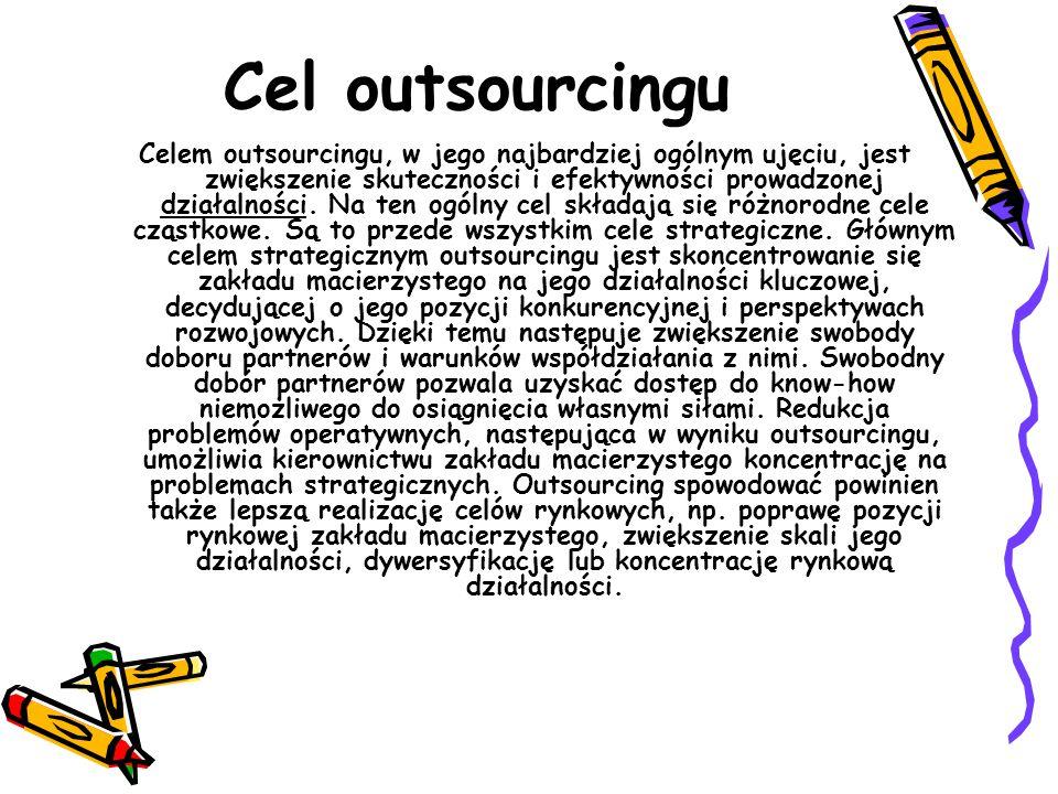 Cel outsourcingu