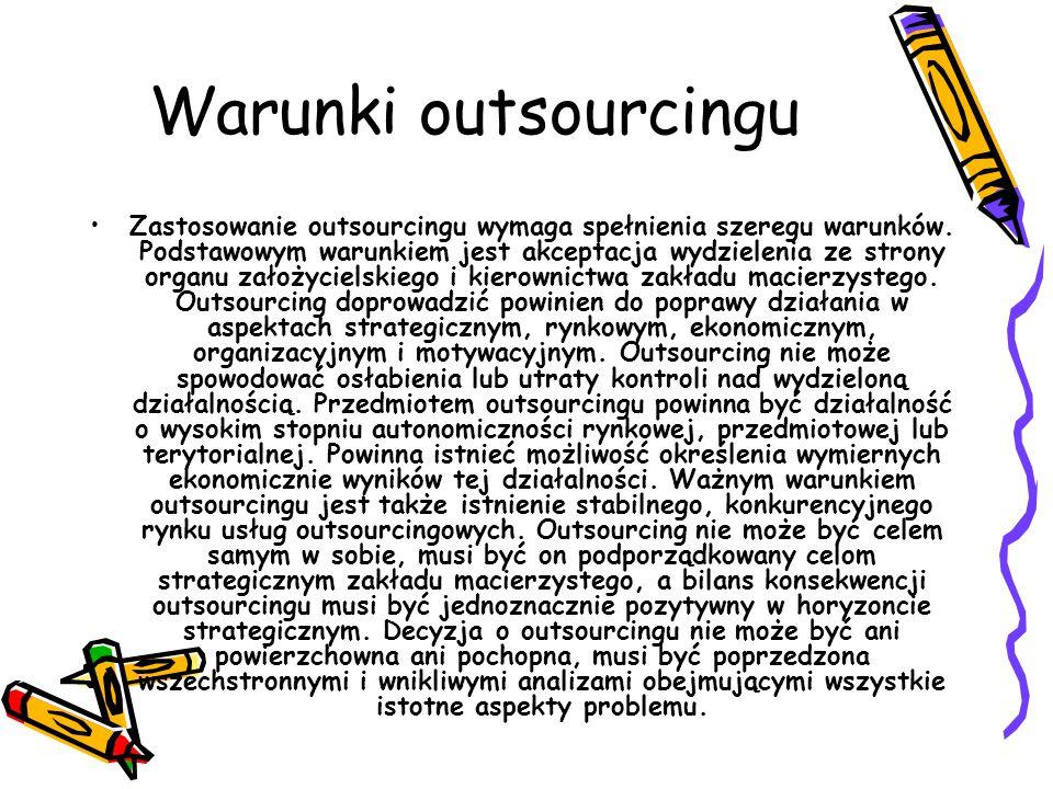 Warunki outsourcingu