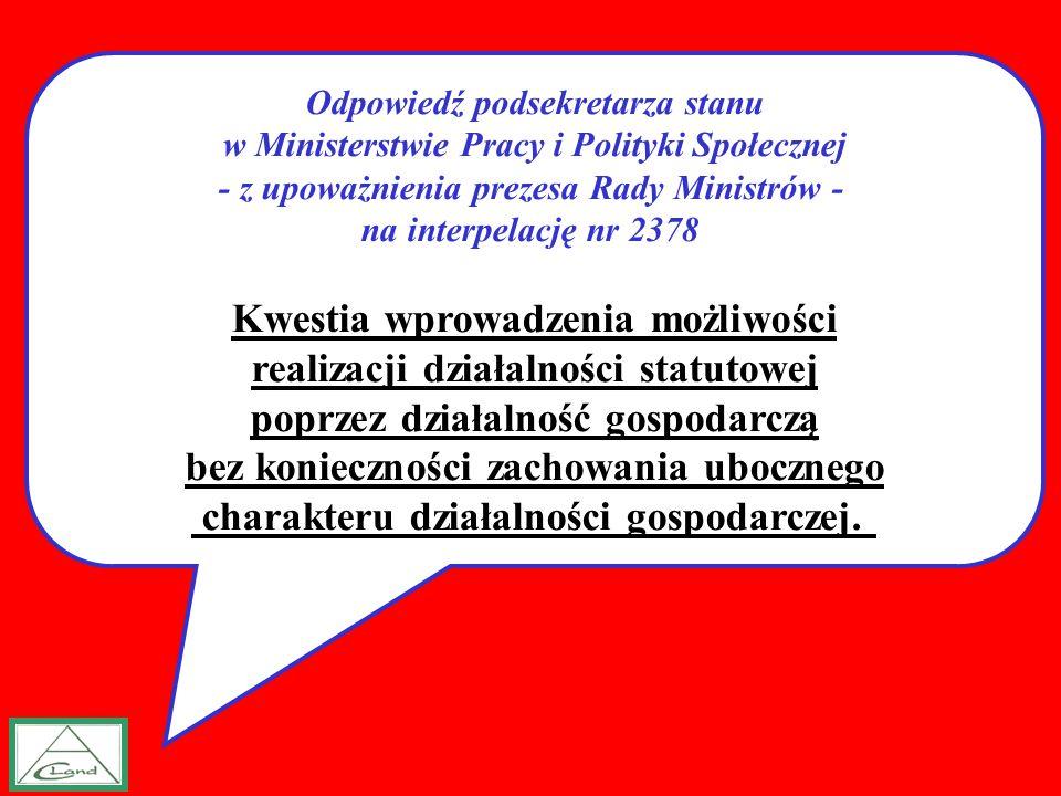 Kwestia wprowadzenia możliwości realizacji działalności statutowej