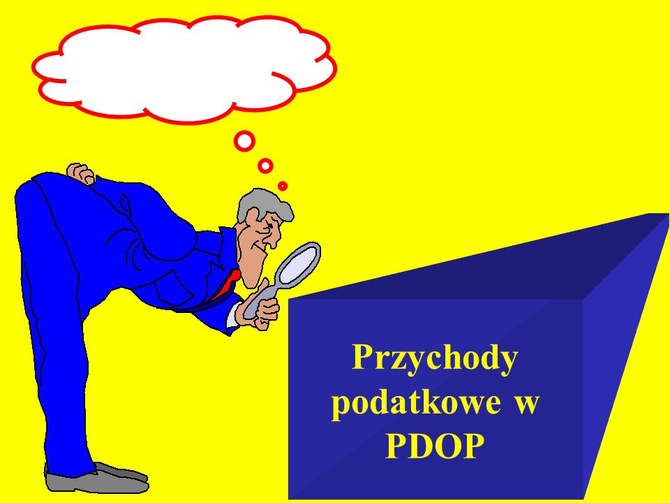 Przychody podatkowe w PDOP