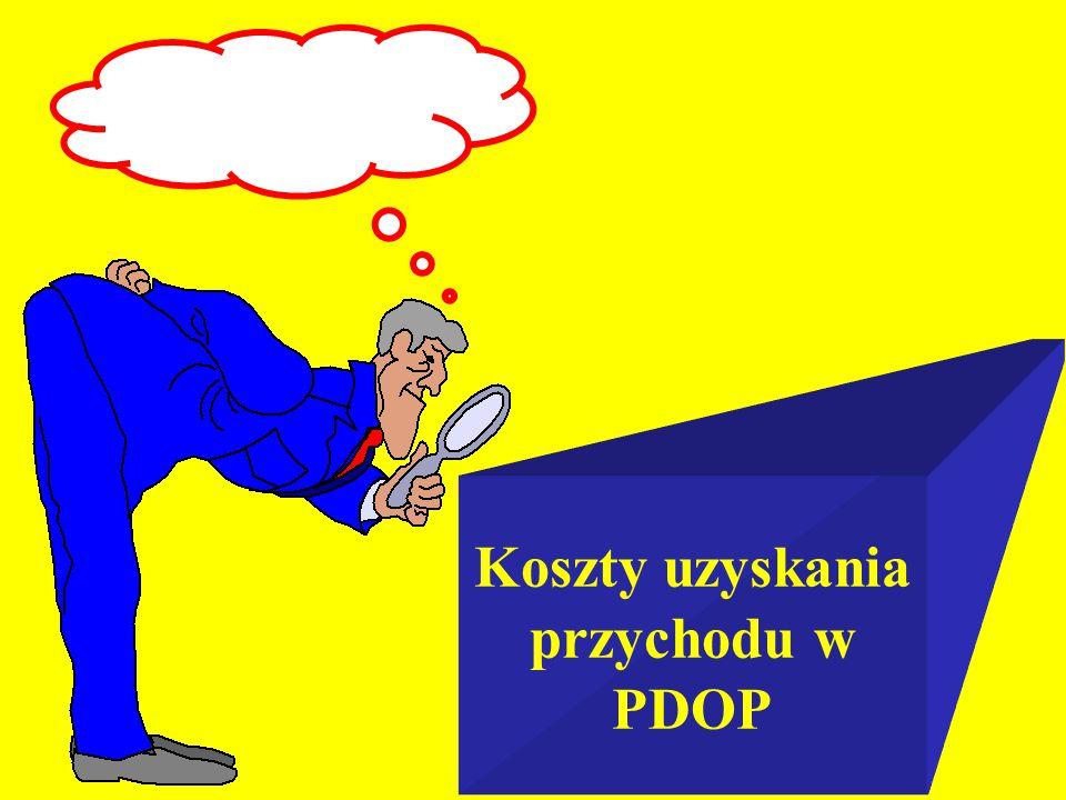 Koszty uzyskania przychodu w PDOP