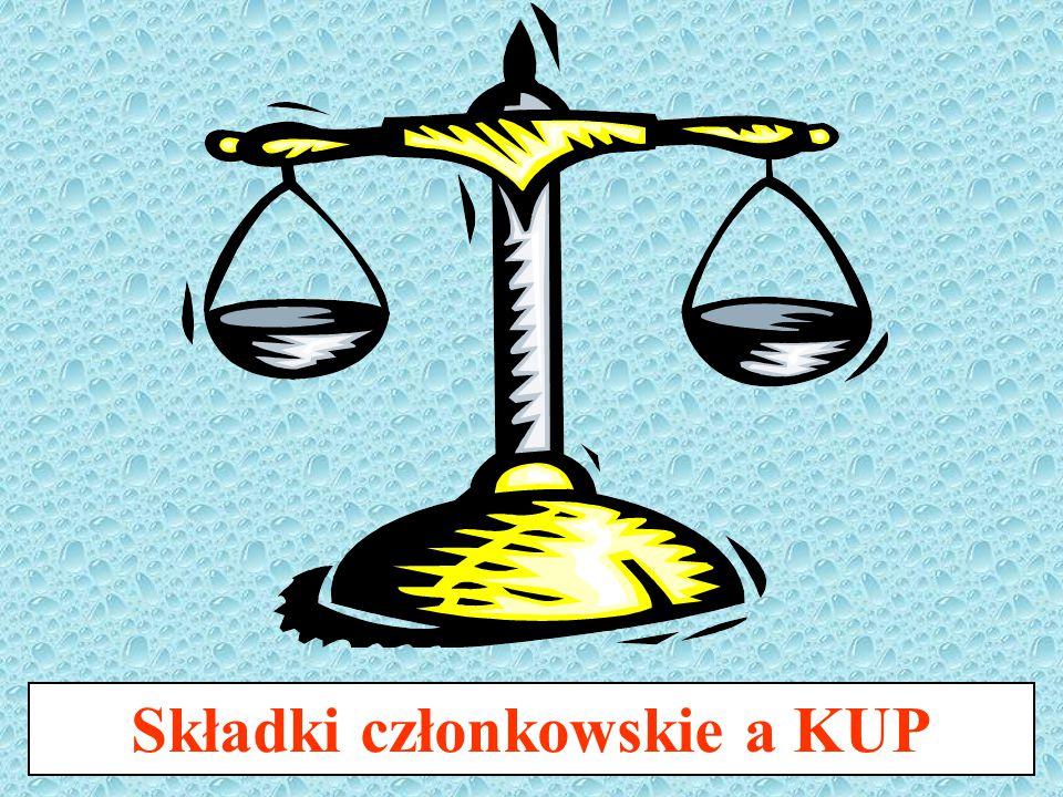 Składki członkowskie a KUP