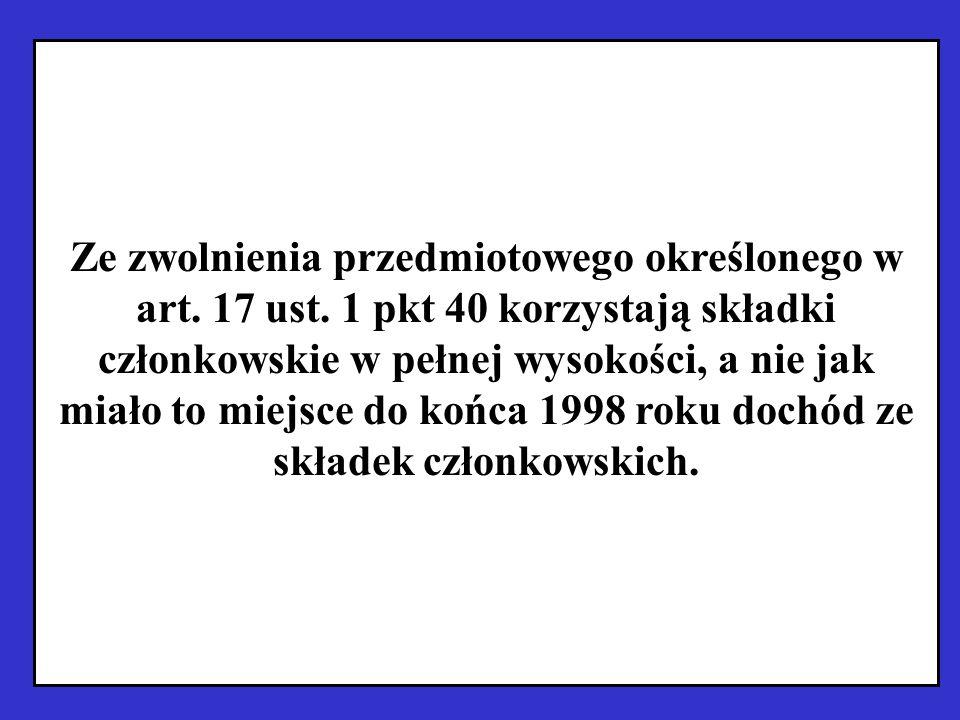 Ze zwolnienia przedmiotowego określonego w art. 17 ust