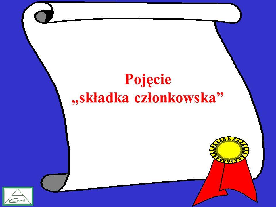 """Pojęcie """"składka członkowska"""