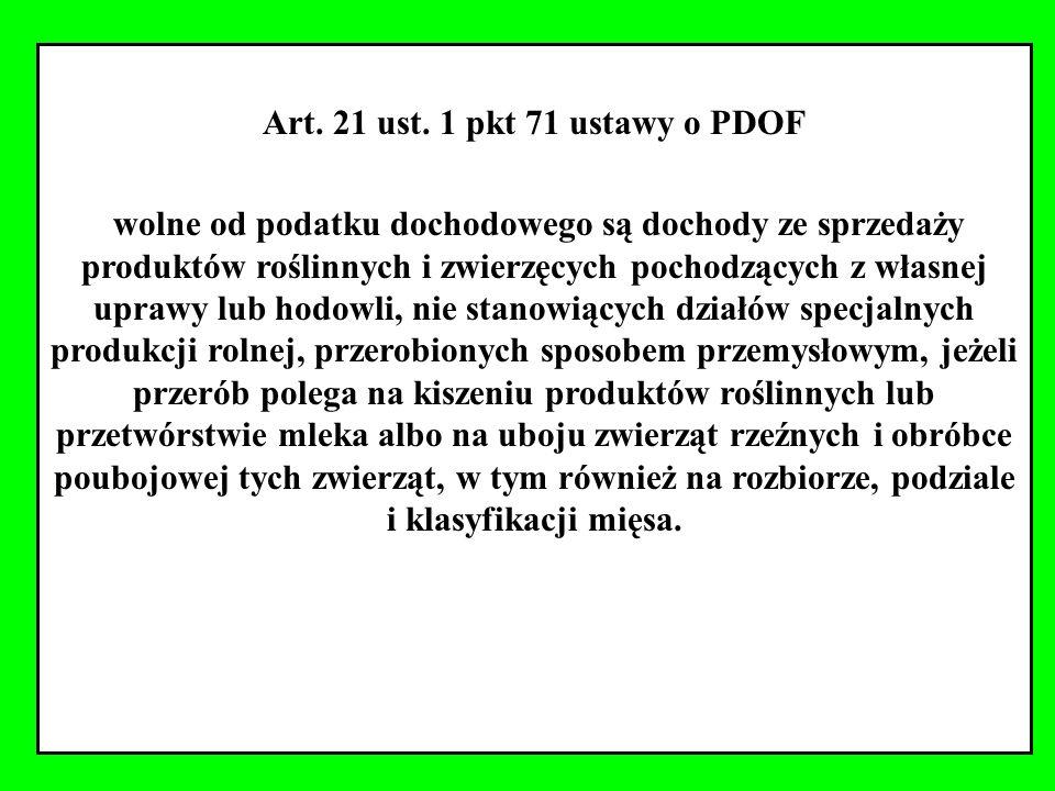 Art. 21 ust. 1 pkt 71 ustawy o PDOF