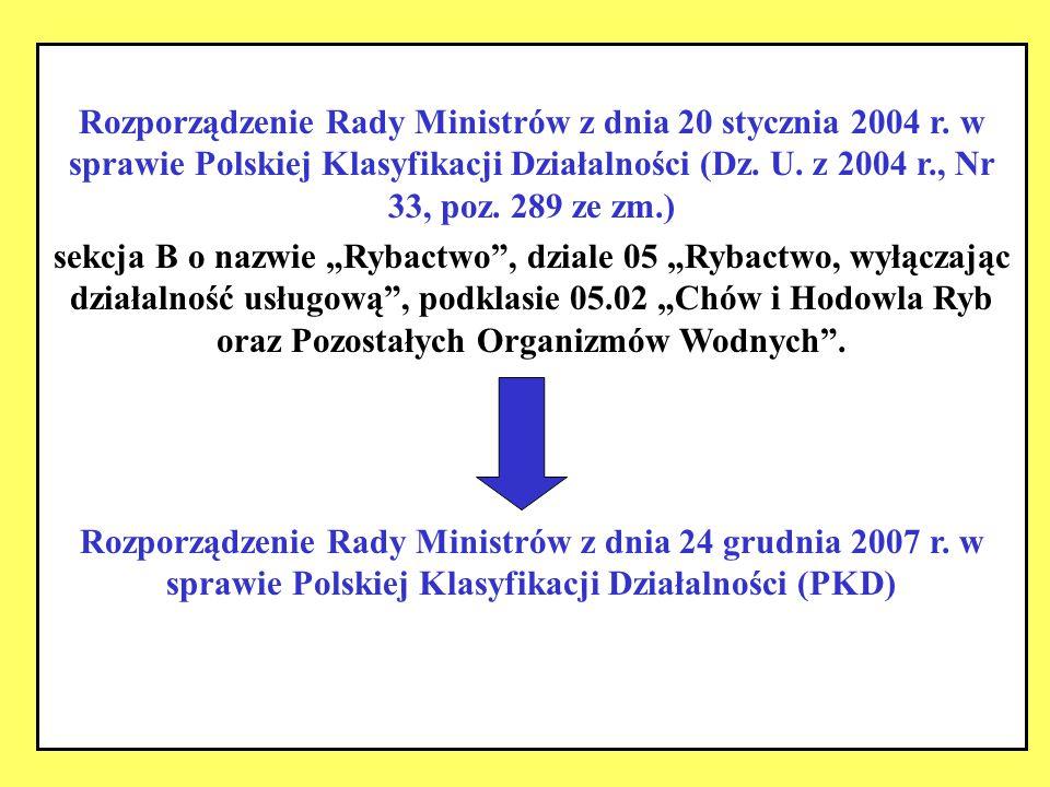 Rozporządzenie Rady Ministrów z dnia 20 stycznia 2004 r