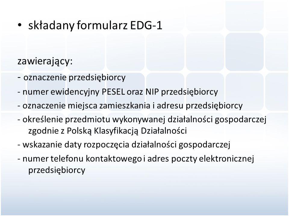 składany formularz EDG-1