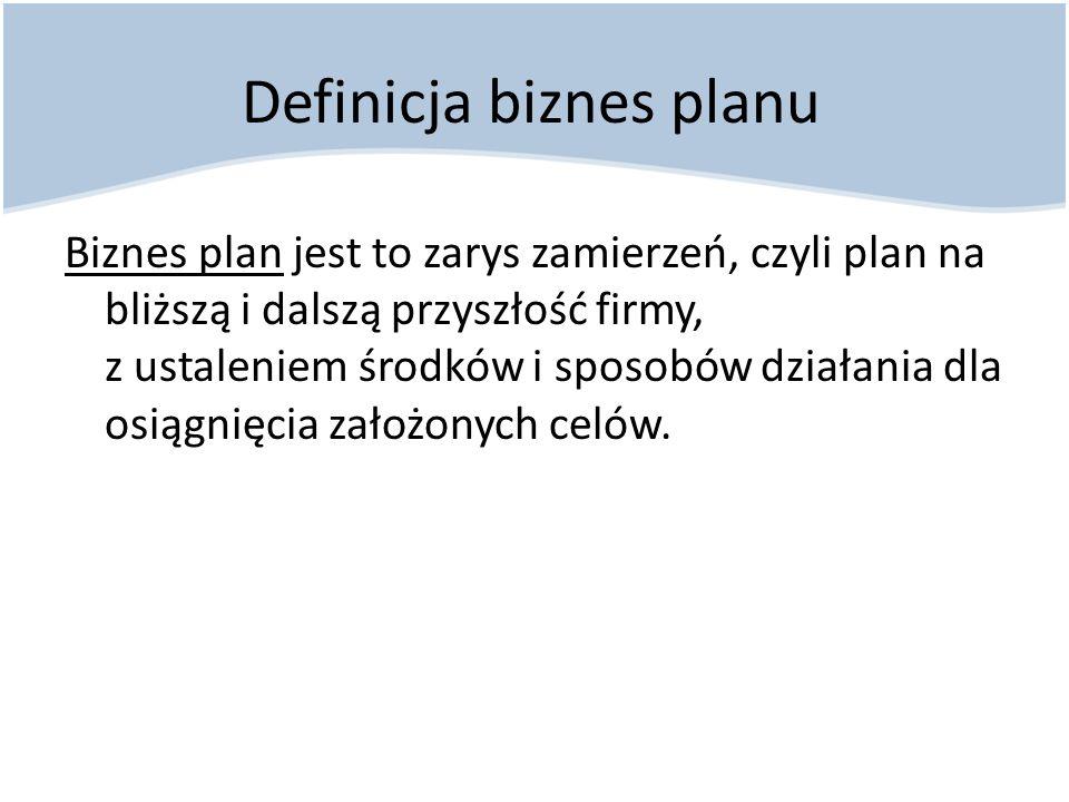 Definicja biznes planu