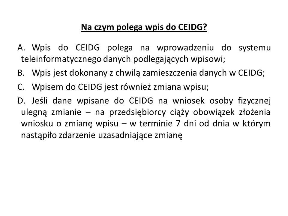 Na czym polega wpis do CEIDG
