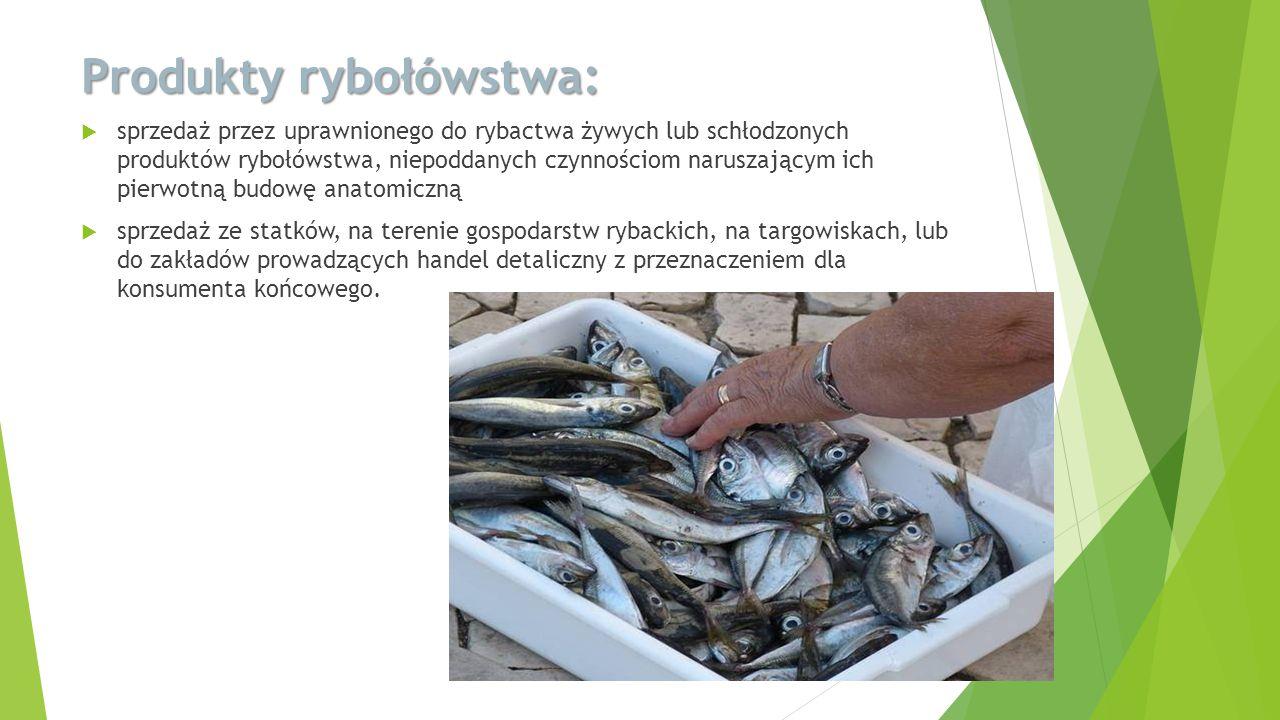 Produkty rybołówstwa:
