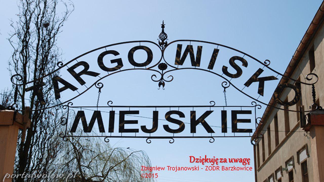 Dziękuję za uwagę Zbigniew Trojanowski – ZODR Barzkowice ©2015