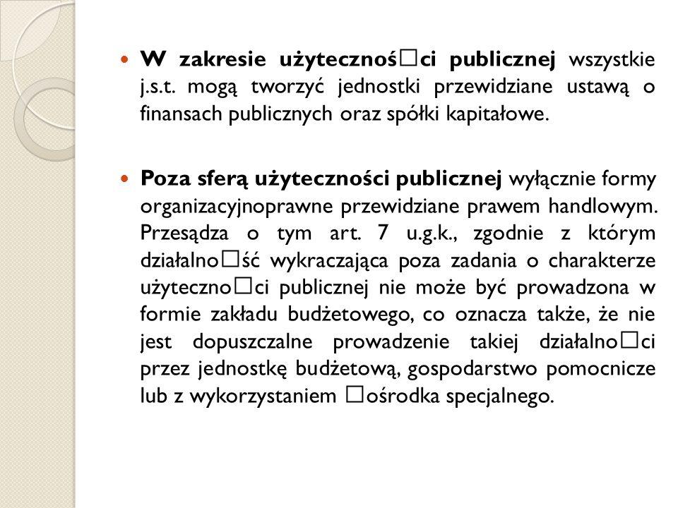 W zakresie użytecznośœci publicznej wszystkie j. s. t