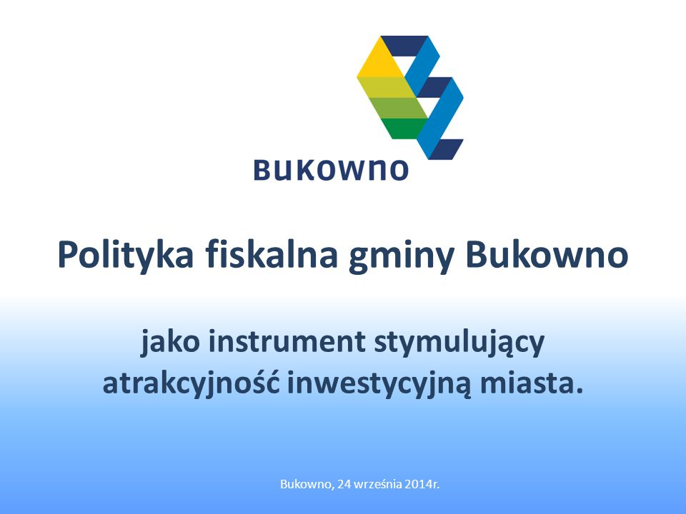 Polityka fiskalna gminy Bukowno