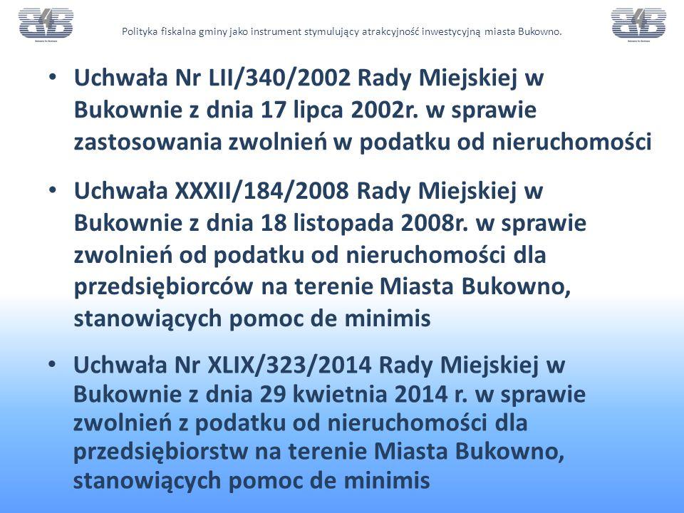 Polityka fiskalna gminy jako instrument stymulujący atrakcyjność inwestycyjną miasta Bukowno.