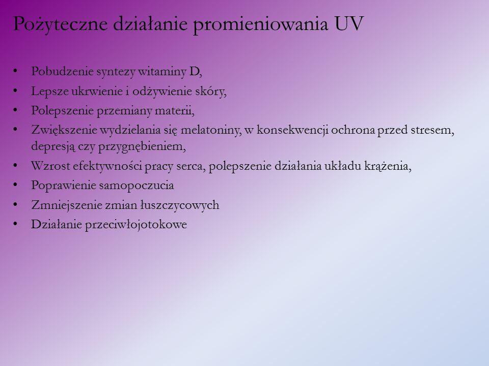 Pożyteczne działanie promieniowania UV