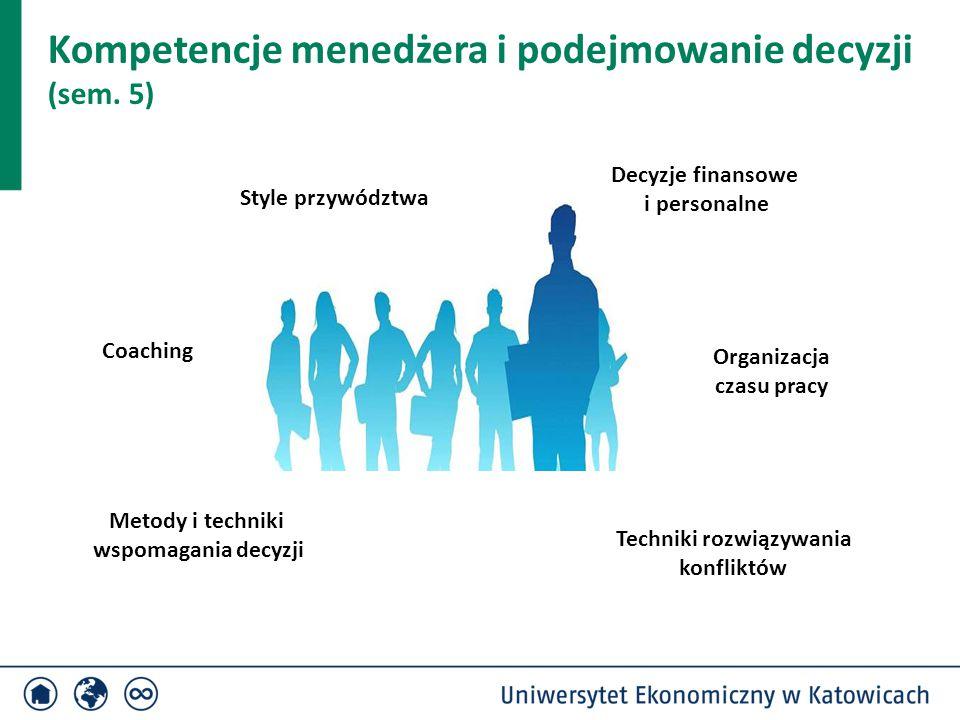 Kompetencje menedżera i podejmowanie decyzji (sem. 5)