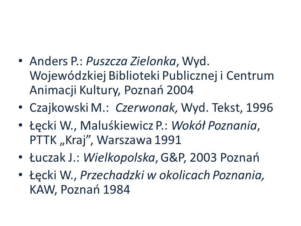 Anders P. : Puszcza Zielonka, Wyd