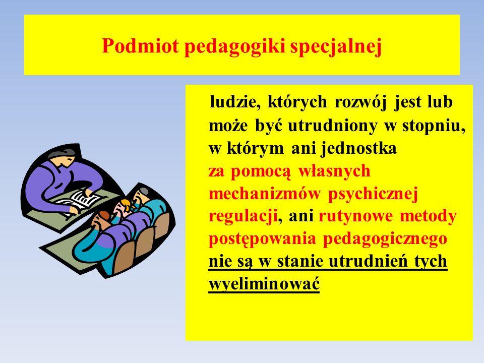 Podmiot pedagogiki specjalnej
