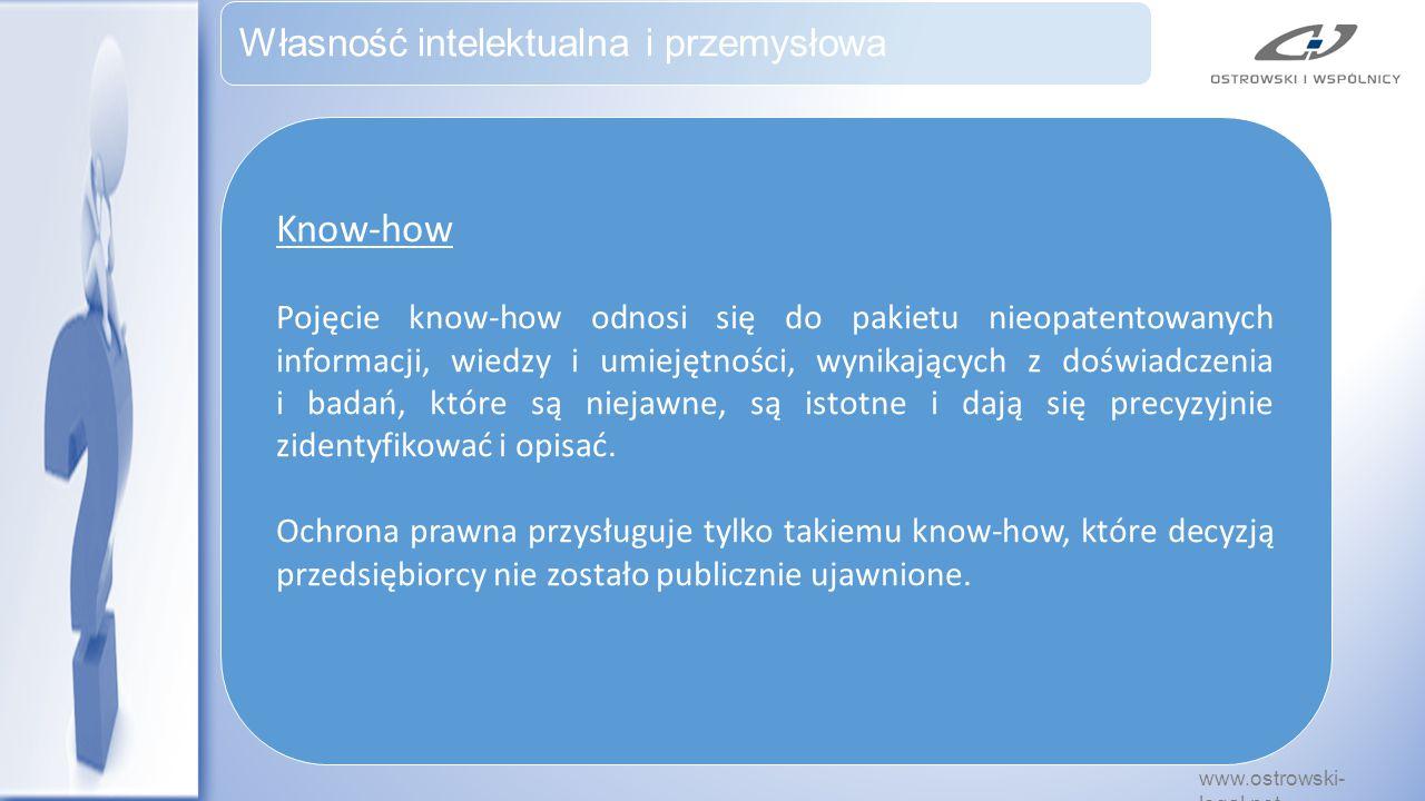 Know-how Własność intelektualna i przemysłowa