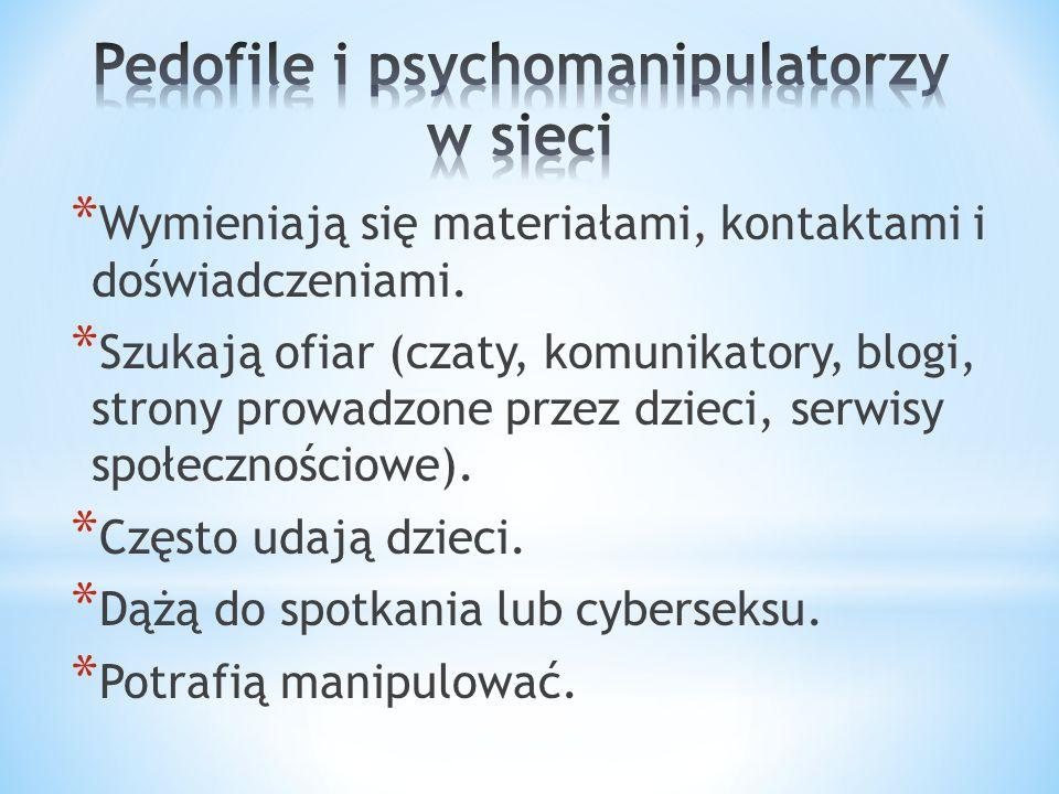 Pedofile i psychomanipulatorzy w sieci