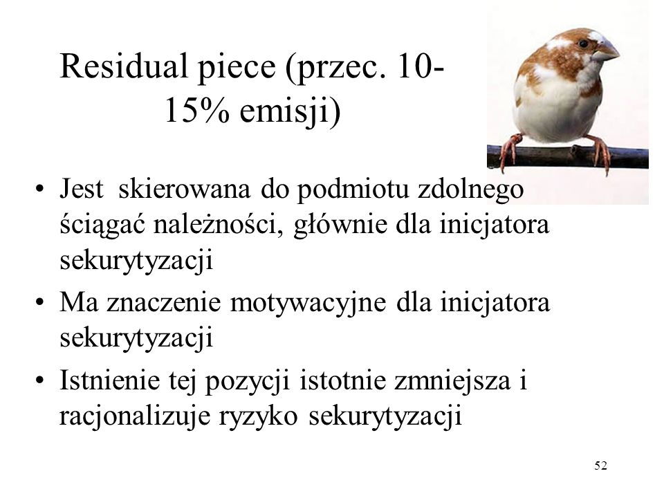 Residual piece (przec. 10-15% emisji)