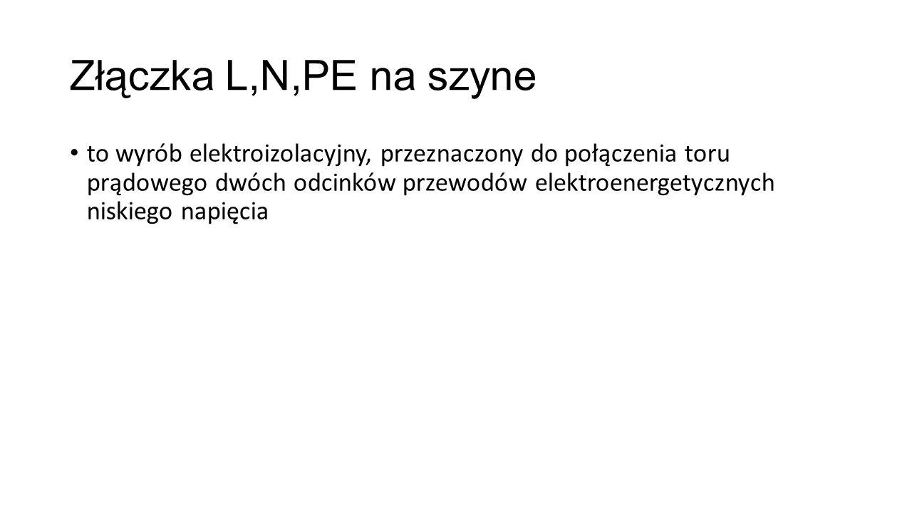 Złączka L,N,PE na szyne