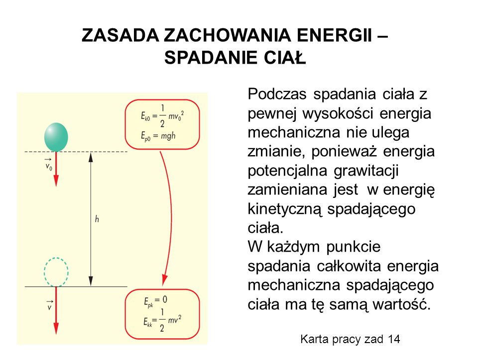 ZASADA ZACHOWANIA ENERGII – SPADANIE CIAŁ