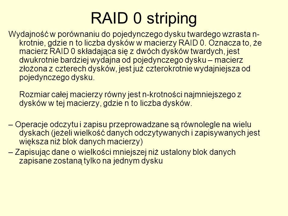 RAID 0 striping