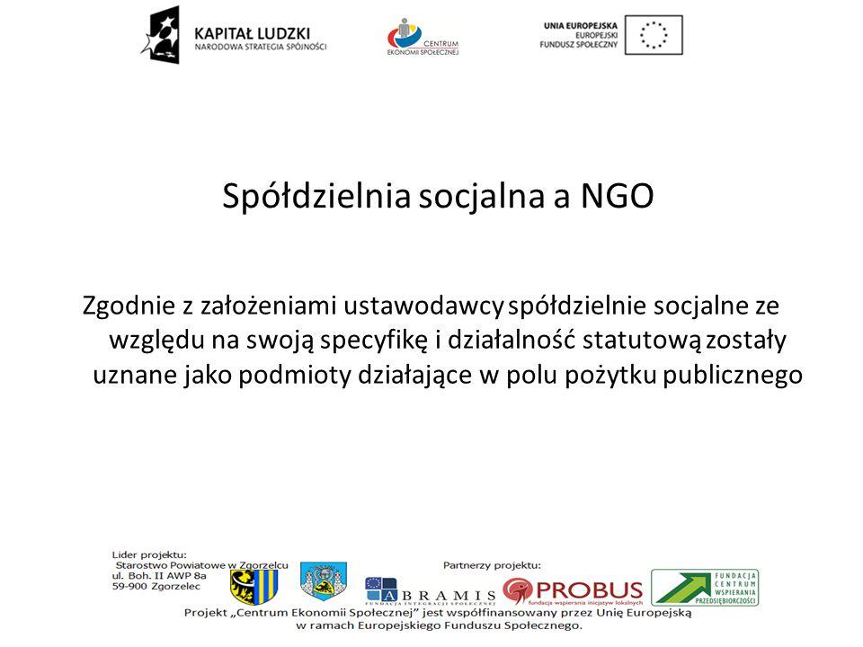 Spółdzielnia socjalna a NGO