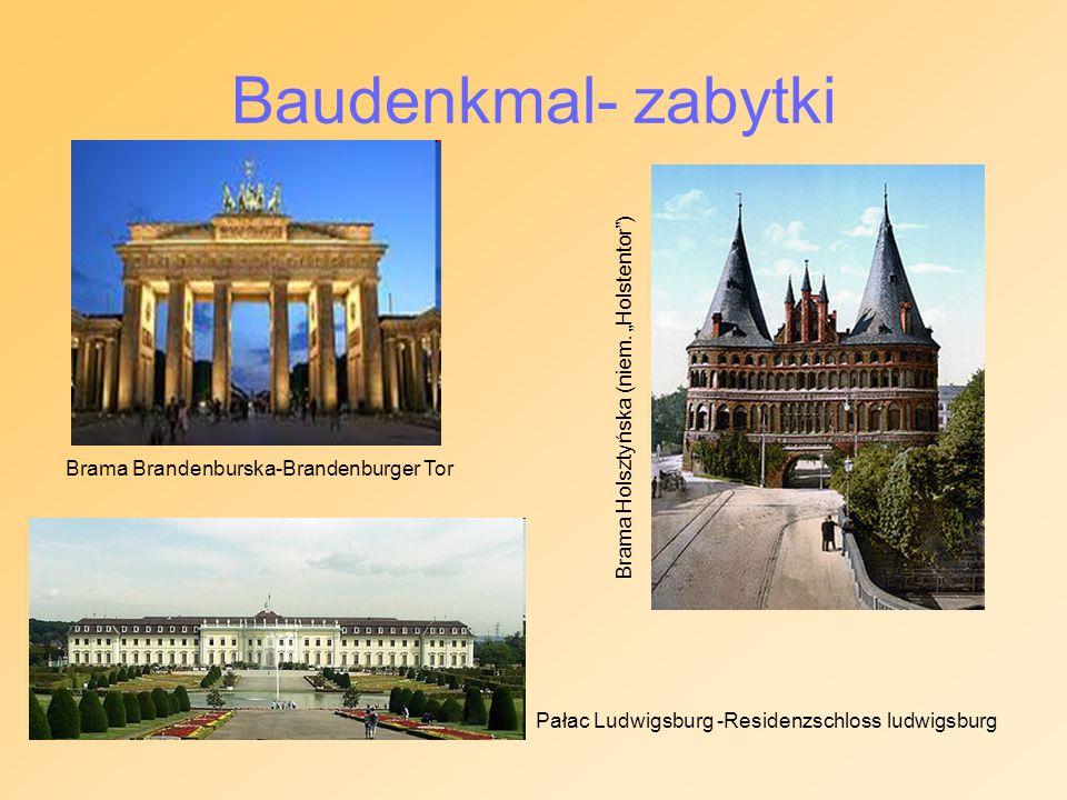 "Baudenkmal- zabytki Brama Holsztyńska (niem. ""Holstentor )"