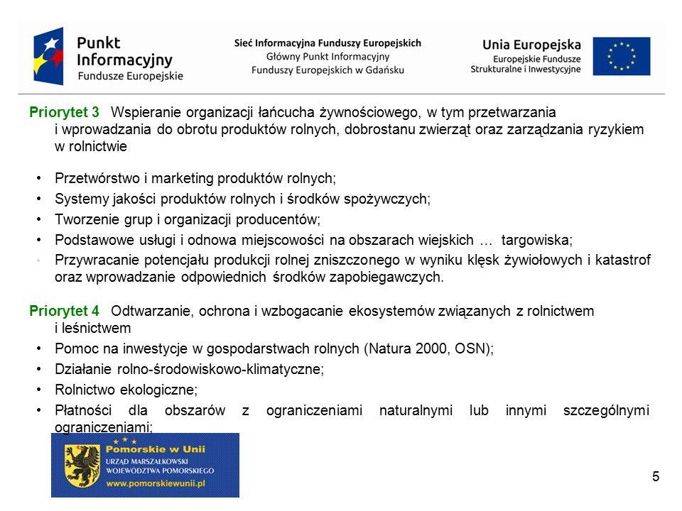 Przetwórstwo i marketing produktów rolnych;