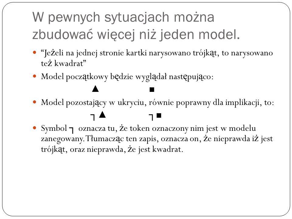 W pewnych sytuacjach można zbudować więcej niż jeden model.