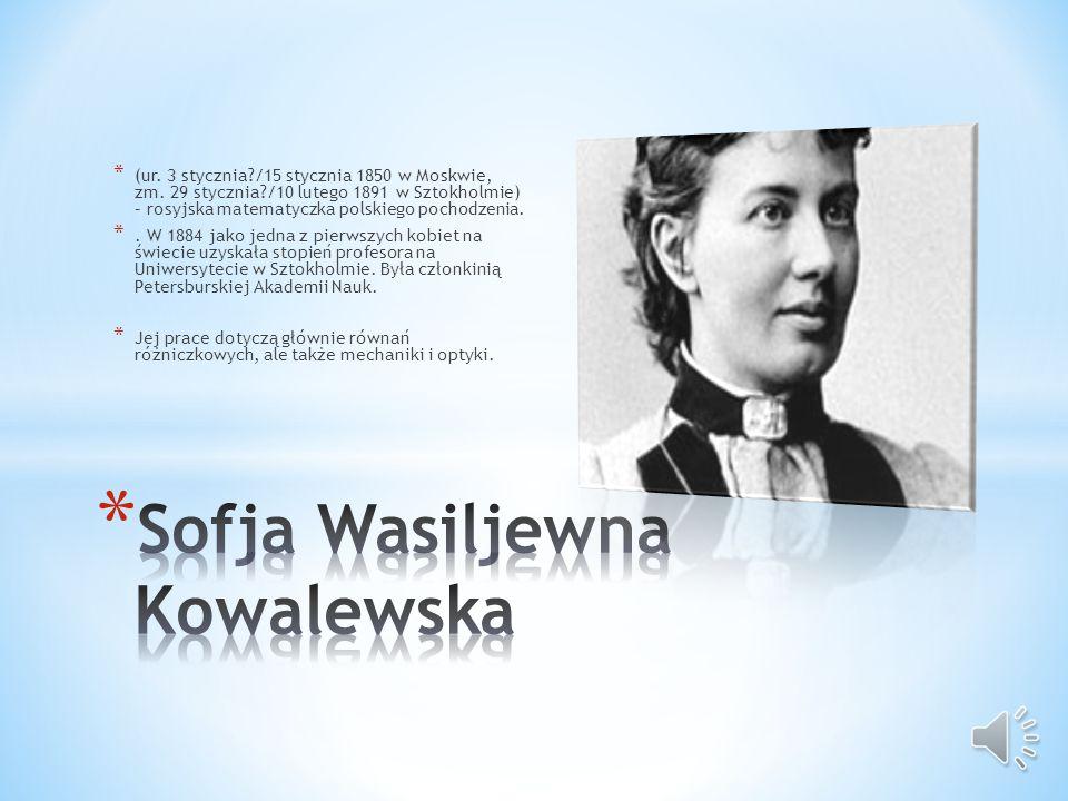 Sofja Wasiljewna Kowalewska