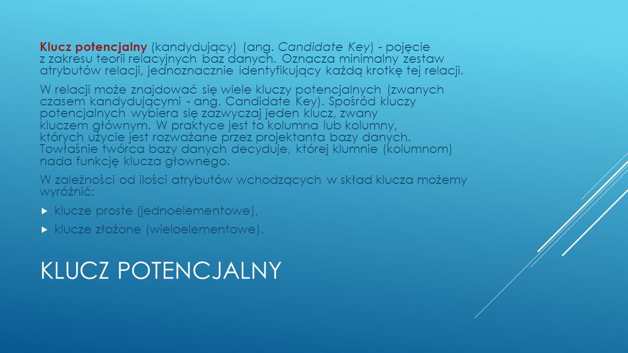 Klucz potencjalny (kandydujący) (ang