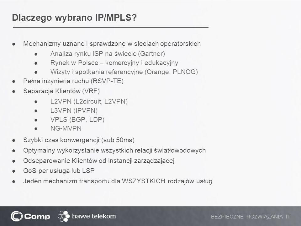 Dlaczego wybrano IP/MPLS
